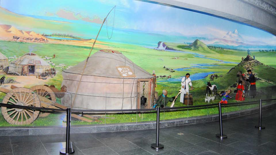 Mongolian family scene